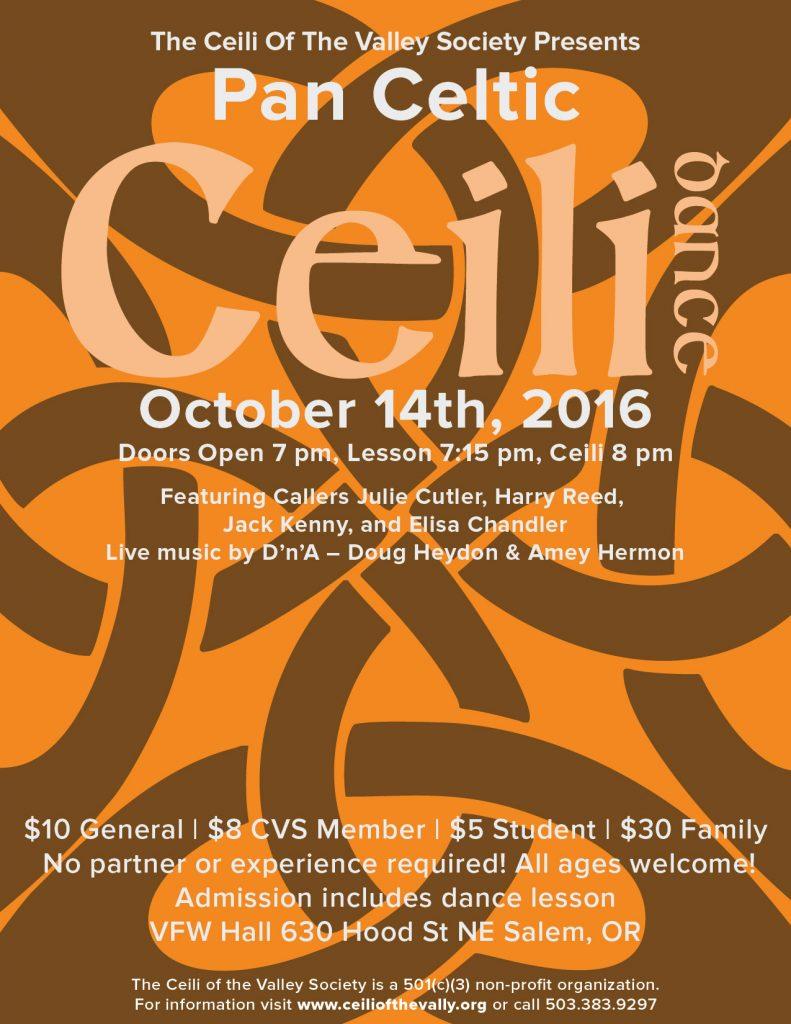 October Ceili Poster