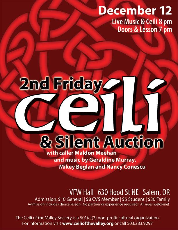 December 2014 ceili & silent auction