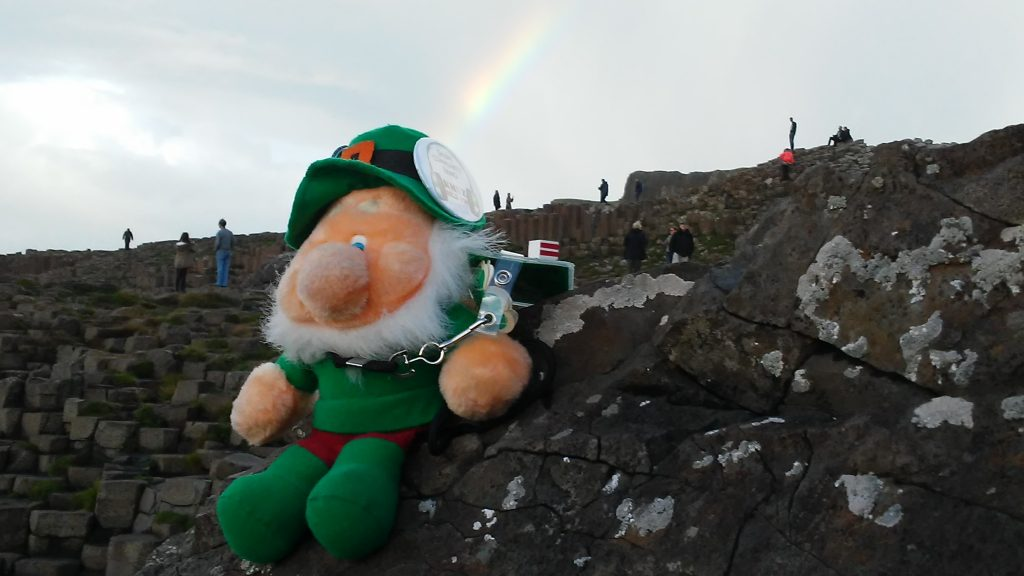 Rainbow at The Giant's Causeway made the day.